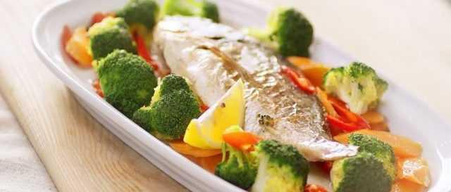 Рыба дорадо (морской окунь) рецепт с овощами