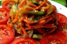 Овощной салат по-корейски простой рецепт приготовления