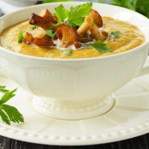 Суп из свежих овощной с грибами (шампиньонами)