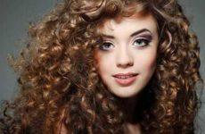 Укладка кудрявых волос в домашних условиях
