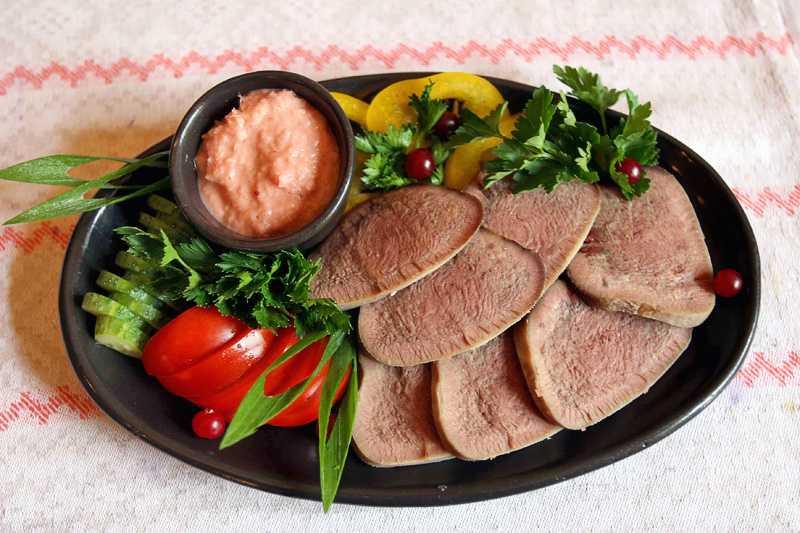 Блюда из свиного языка