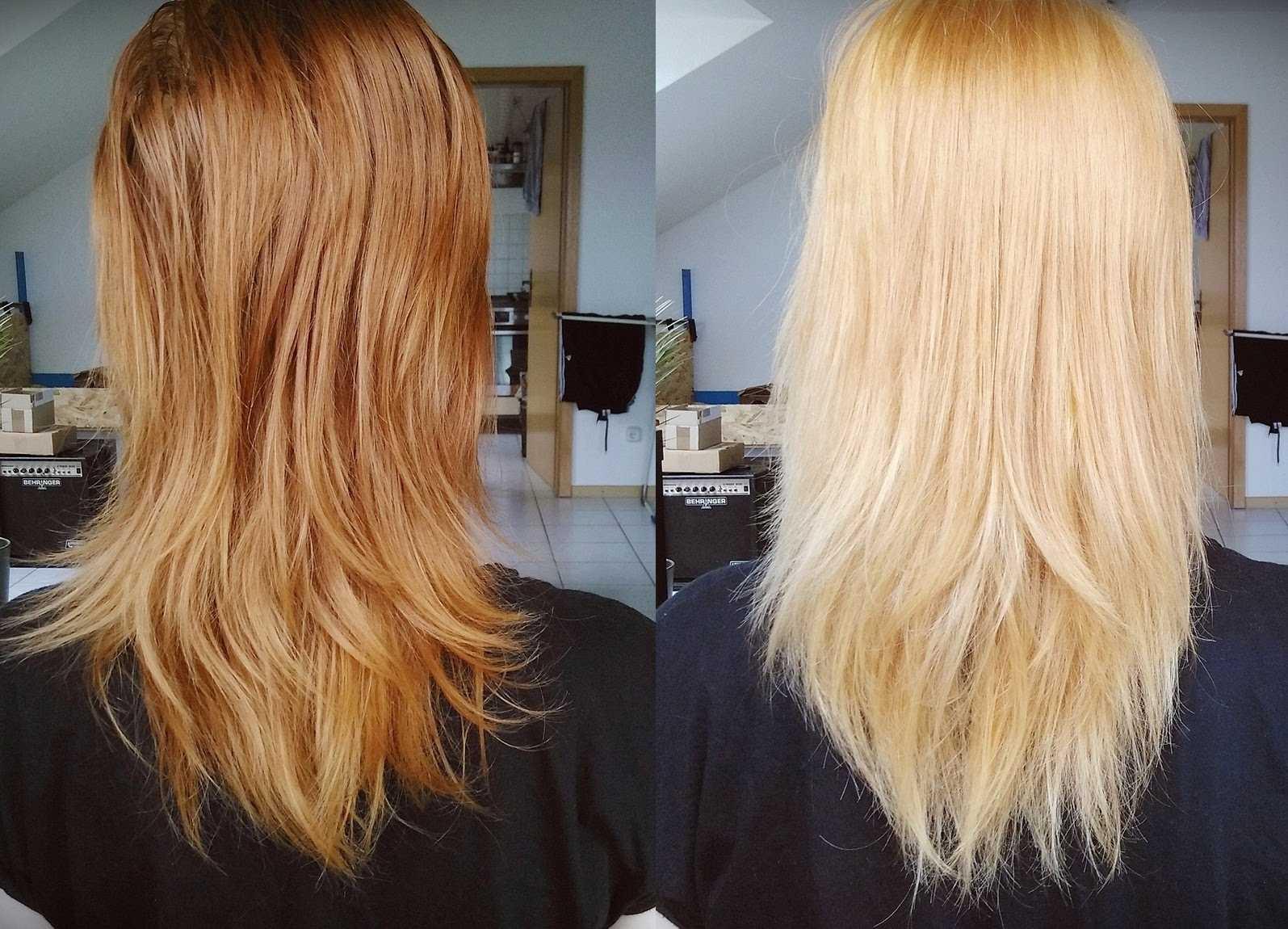 осветление волос лимоном до и после фото