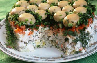 Новогодние рецепты салатов с маринованными жаренными шампиньонами