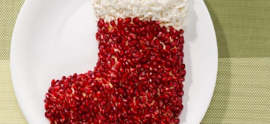 Новогодний салат «Гранатовый браслет»