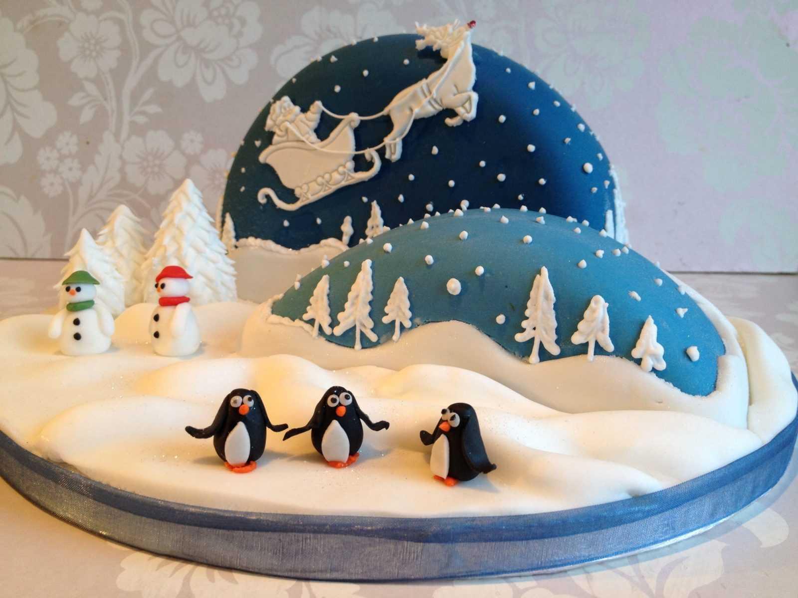 Новогодний торт «Арктика»