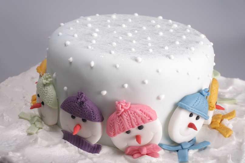 Новогодний торт «Льдинка»
