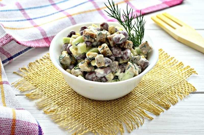 «Оливье» с фасолью