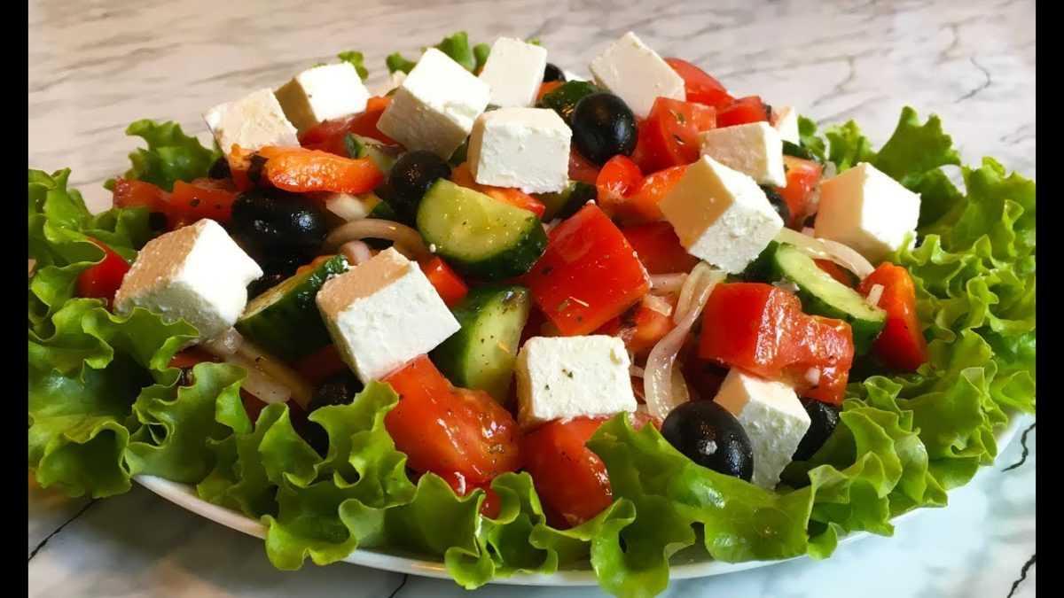 Греческий салат. Рецепт приготовления