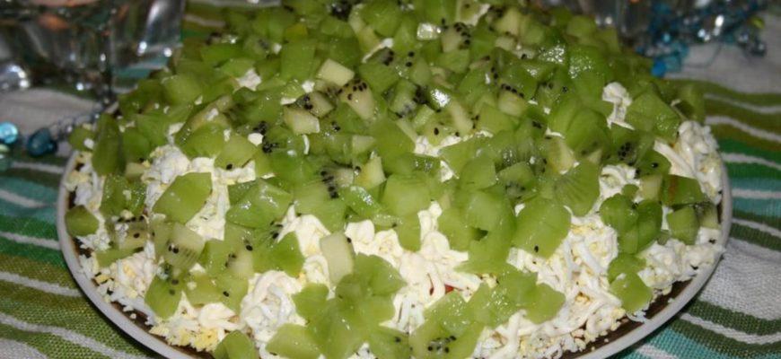 Киви и курица рецепты салатов