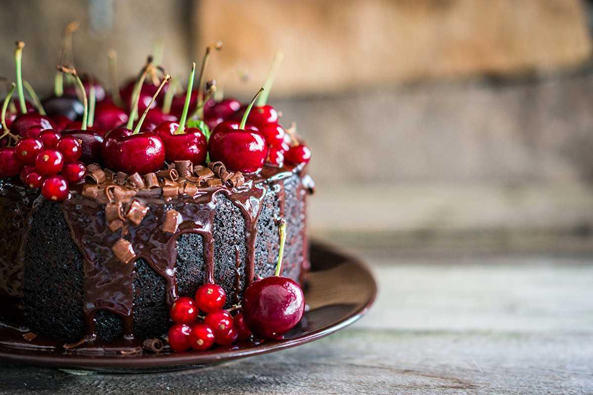 Новогодний Торт «Пьяная вишня»