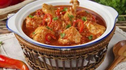 Чахохбили из курицы блюдо грузинской кухни