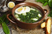 Зеленый суп рецепт супа из свежей зелени с курицей и яйцом
